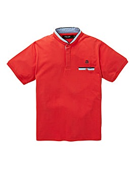 Black Label Grandad Trim Polo Reg