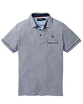 Black Label Jaquard Pattern Polo
