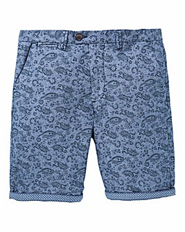 Black Label Paisley Print Smart Short