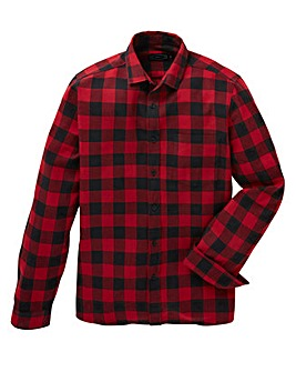 Label J Back Print Buffalo Check Shirt