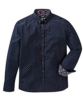 Black Label Long Sleeve Spotty Shirt L