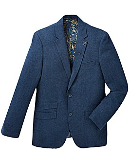 Black Label Herringbone Tweed Blazer Reg
