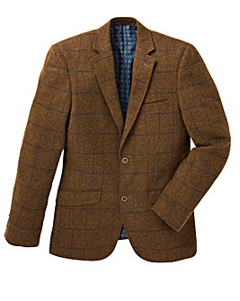 Black Label Check Tweed Blazer Long