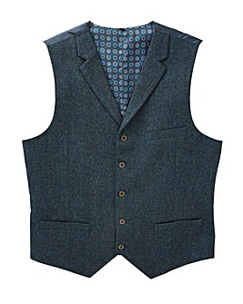 Black Label Tweed Waistcoat Long
