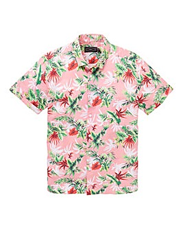 Label J Hawaiin Print Shirt Long