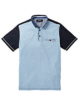 Black Label Colour Block Trim Polo