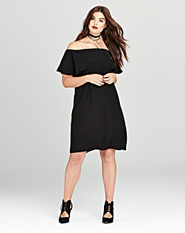 Simply Be Black Cold Shoulder Dress