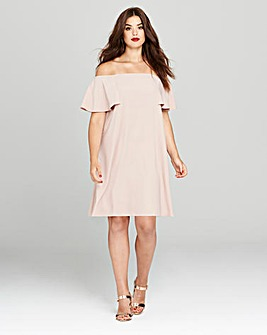 Simply Be Blush Cold Shoulder Dress