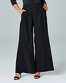 Simply Be Black Crepe Palazzo Trousers