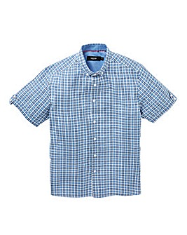 Black Label Short Sleeve Check Shirt Reg