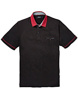 Black Label Pattern Collar Polo L