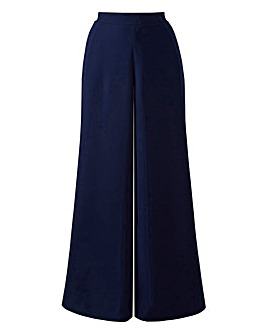 Simply Be Navy Crepe Palazzo Trousers