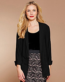 Simply Be Black Tuxedo Jacket