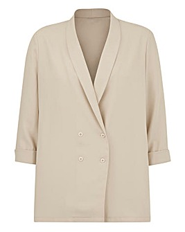 Simply Be Champagne Tuxedo Jacket