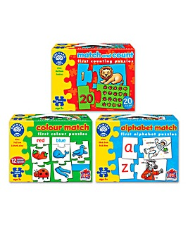 Pack of 3 Activity Jigsaws