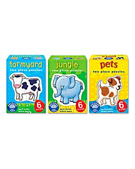 Pack of 3 Animal Crackers Puzzles
