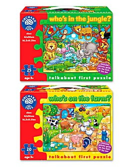 Pack of 2 Animal Spotting Jigsaws