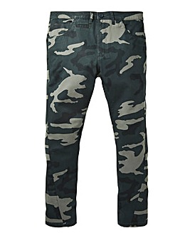Label J Camo Stretch Skinny Chino