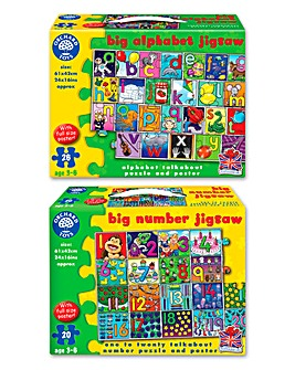 Pack of 2 Numbers and Letters Jigsaws