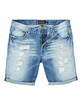 Label J Rip and Repair Denim Short