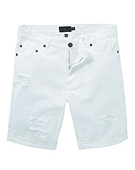 Label J Ripped Denim Short