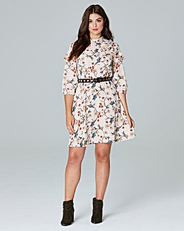 Simply Be Floral Ruffle Dress