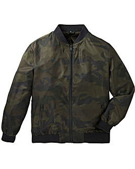 Label J Camo Print Bomber Jacket