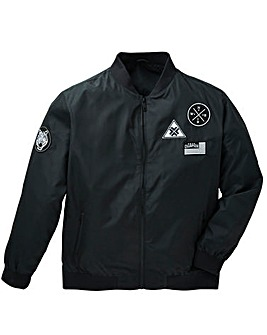Label J Badges Bomber Jacket Long