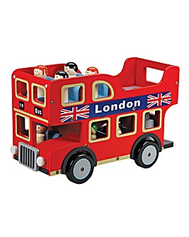 Wooden London Bus With Removable Figures