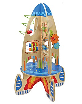 Large Multi Activity Wooden Space Rocket