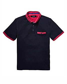 Black Label Bright Trim Polo Long