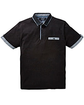 Black Label Gingham Trim Polo