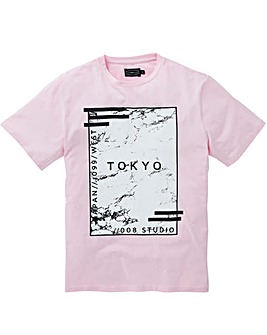 Label J Marble Print Tee Regular