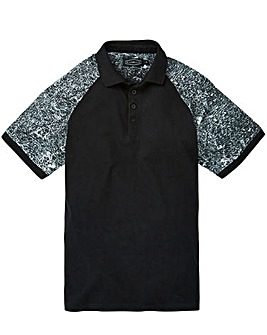 Label J Marble Sleeve Polo Regular