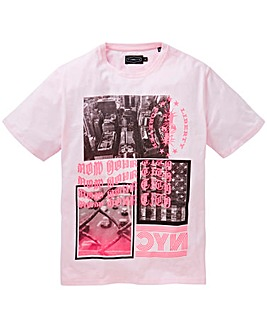 Label J Neon City Print Tee Long