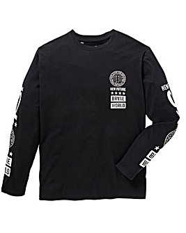 Label J Long Sleeve Print T-Shirt Reg