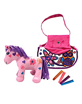 Colour and Carry Along Pony