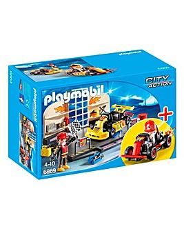 Playmobil Go-Kart Garage Starter Set