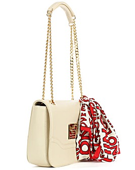 Love Moschino Beige Scarf Shoulder Bag
