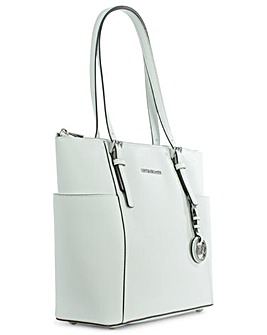 Michael Kors White Leather Tote Bag
