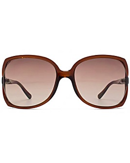 Guess Stud Temple Square Sunglasses