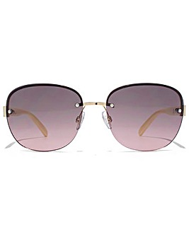 Carvela Diamante Rimless Sunglasses