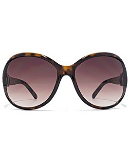 Carvela Oval Cut Out Sunglasses
