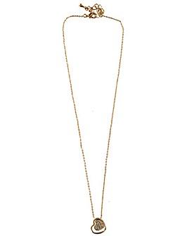 Diamante mini heart necklace