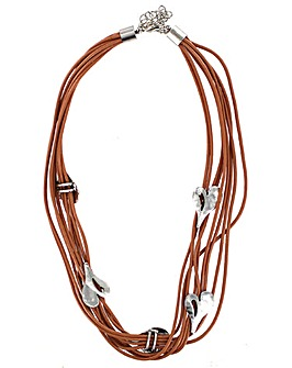 Multi Leather Cord Necklace