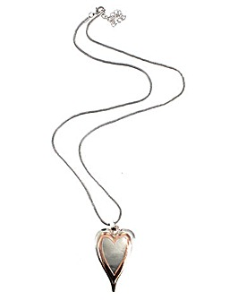 Lizzie Lee Mixed Metal Heart Necklace