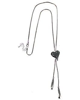 Lizzie Lee Lariat Heart Necklace