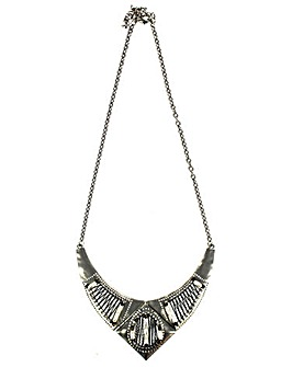 Lizzie Lee Matte Metal V Shaped Necklace