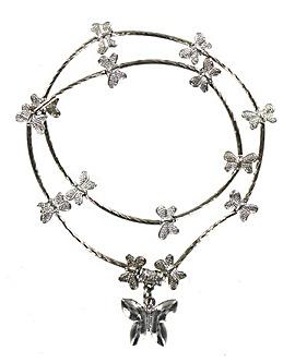 Elasticated Butterfly Charm Bracelet