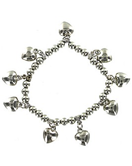 Mini Heart Elasticated Bracelet
